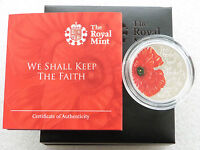 2013 Alderney Remembrance Poppy Day £5 Five Pound Silver Proof Coin Box Coa