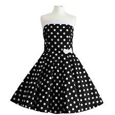 Rockabilly 50er Neckholder  Kleid Petticoat Pin Up Party Baumwolle X/XL 103-58