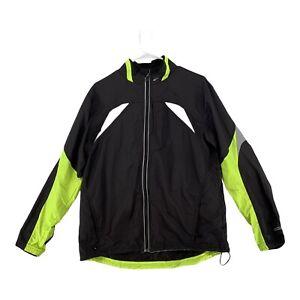 Brooks Night Life Mens Long Sleeve Full Zip Jacket Gray Black Size M RN 120275