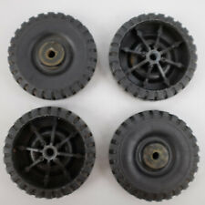 1960-1970 Tonka Set of 4 Plastic Tires Original Vintage USA Ford Toy Truck Parts