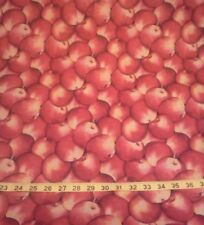"""2 1/8 yards Apples 100% Cotton Fabric- 44"""" wide"""