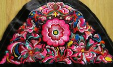 Antique miao hmong tribal flower camber delicate machinemade embroidery 23033