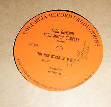 "Ford Motor Company Presents: The New World of PEP 12"" Sales Instruction"