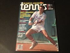 Mats Wilander 1984 Tennis Magazine Mag Signed Auto COA