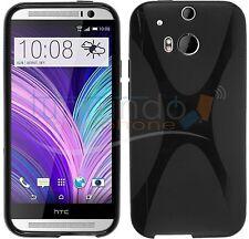 FUNDA de GEL TPU NEGRA para HTC ONE 2 M8 en ESPAÑA CARCASA