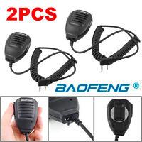 2x Baofeng 2-Way Radio Speaker Mic for BF-888S UV-5R UV-5RA UV-5RB UV-5RC/5RE YS