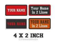 "Custom Embroidered Name Tag Sew on Patch Motorcycle Biker Badge 4"" X 2"" (A)"