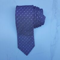 ERMENEGILDO ZEGNA Men's Necktie Light Brown Tan Geometric Gold Dots Silk Tie