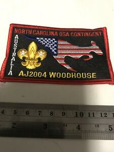 Boy Scout USA North Carolina Contingent to AJ2004  MINT scout bage patch