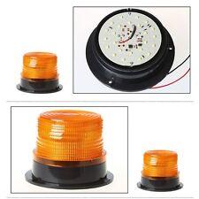 LED 12V-24V Auto Car Warning Light Round Emergency Light Amber Flashing Strobe