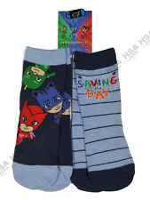 2 Pairs Boys Character Cartoon Novelty Socks,PJ Masks Christmas Gift