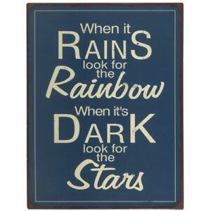 Ib Laursen Metallschild When it rains look...