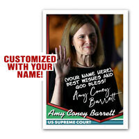Amy Coney Barrett Personalized Novelty Trading Card SIGNED Replica Autograph