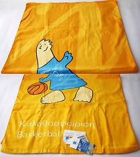 RARE OFFICIAL OLYMPIC GAMES ATHENS 2004 PHEVOS TOWEL BASKETBALL GREECE NEW !