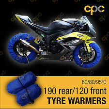 Blue Superbike tyre warmer set front rear race track motorcycle tire warmers D3