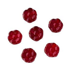 50 Preciosa Czech Glass Garnet Red 6x3.5mm Flat Round Flower Coin Disc Beads