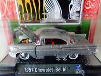 M65 M2 MACHINES 1:64 Auto Dreams 1957 CHEVROLET BEL AIR GRAY 2008 Christmas Edi