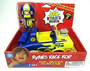 Ryan's World Series 2 Ryan's Race Rod Figure & Vehicle Pull Back Action Race Car