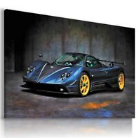 PAGANI ZONDA BLUE GRAPHITE Sports Cars Wall Art Canvas Picture AU678 MATAGA