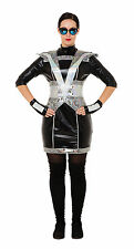 Ladies Womens Futuristic Police Fancy Dress Costume Woman Outfit UK 10-14