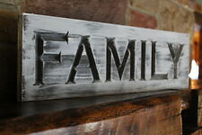 Fixer upper wall decor farmhouse kitchen sign FAMILY rustic wood signs carved