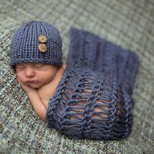 Newborn Baby Boy Girl Crochet Knit Clothes Photography Photo Prop Costume
