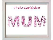 Personalised Mum Christmas Present Mummy Parents Mothers day Gift For Her