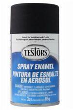Testors Model Master FLAT BLACK Enamel Spray Paint Can  3 oz. 1249