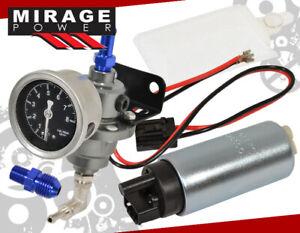 Heavy Duty Electric Fuel Pump Replacement Upgrade +Adjustable Pressure Regulator