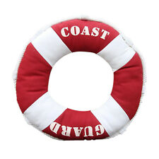 "Life Buoy Mediterranean Coast Guard 40"" Pillow Sofa Cushion Home Decor Red"