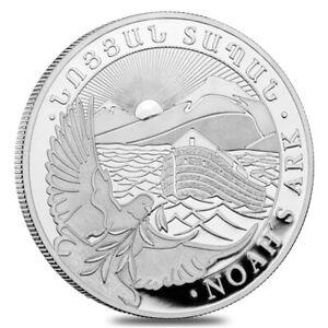 2021 Armenia 1 oz Noah's Ark Silver Coin 500 Drams .999 Fine BU