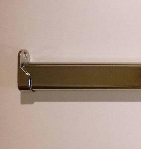 Kleiderstange Oval mit 2 Wandhalterung, Ovalrohr 30 x 15 mm, chrom - 40-120cm