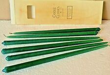 """VTG USA """"Candle Classics Collection"""" Tiny Taper 10"""" Green Candles, Set of 6 NIB"""