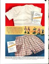 1958 Carter's T-Shirts Underwear Men's Clothing Full Page Vintage Print Ad 891
