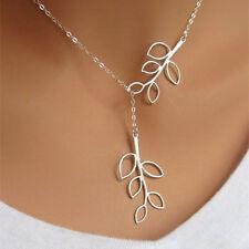 Halskette Anhänger Blatt Damenkette Kette Damen Geschenk verstellbar 65 cm NEU