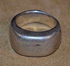 Antique Ethiopian Ethnic Coin Silver Ring From Ethiopia Africa, Ring Size 7