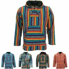 Hoodie Jumper Baja Jerga Drug Rug Hoody Hooded Rainbow Brushed Jacket