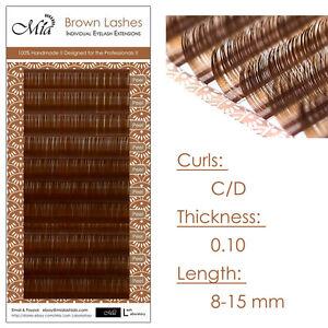 Chocolate Brown Lash Color Lash Individual Eyelash Extensions Semi Permanent