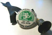 1857 to 1957 Centennial Belles Macungie  Pa. Centennial Metal Badge / Pin w Bell