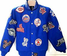 NEW! MLB Multilogos  Reversible Jacket Youth  Blue Jacket Size Youth L