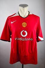 Manchester United Trikot 2004-2006 Gr. XXL Nike rot home Jersey vodafone