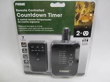 Prime Remote Controlled Lighting Timer, 2 Outlet, Dusk to Dawn or Dusk + Hours