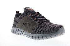 Skechers Overhaul Primba 52821W Mens Gray Wide 2E Mesh Athletic Running Shoes