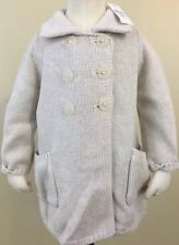 NEW Baby Gap Girls Oatmeal Cardigan Long Double Breasted Sweater. Size 6-12M.