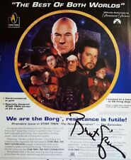 STAR TREK NEXT GENERATION AD PAGE SIGNED BY BRENT SPINER WITH CERTIFICATE