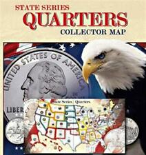 State Series Quarter Presentation Coin Map Display 50 St' DC Territories Gift
