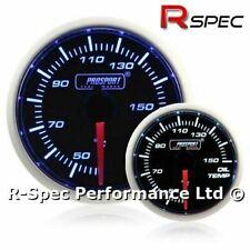 Prosport 52mm Super Blue / White Stepper Motor Oil Temp Temperature Gauge °C