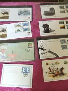 8 FALKLAND ISLANDS FIRST DAY COVERS. 1990's - 2000's.