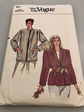 """Very Easy Vogue Sewing Pattern 8611 Unlined Jacket UNCUT Size 8-10-12 31-34"""""""