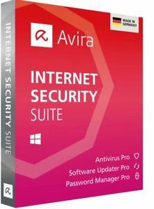 Avira Internet Security Suite 2020/365 Tage/E-Mail/KEY/1 PC 1 Jahr/WINDOWS/MAC